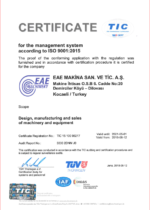 CERTIFICATE for the management system